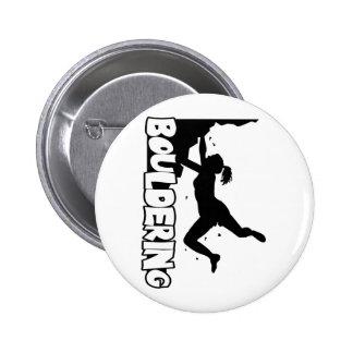 Bouldering_print women 2 inch round button
