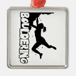 Bouldering_print women metal ornament
