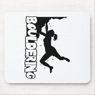 Bouldering_print women mouse pad