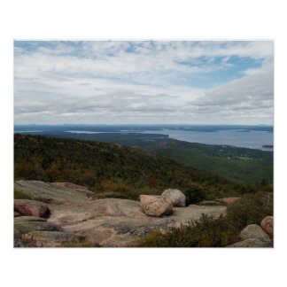 Boulders On Cadillac Mountain Poster