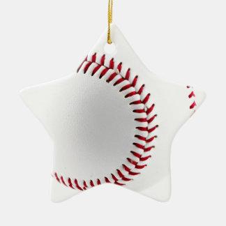 Boule de base-ball ornement étoile en céramique