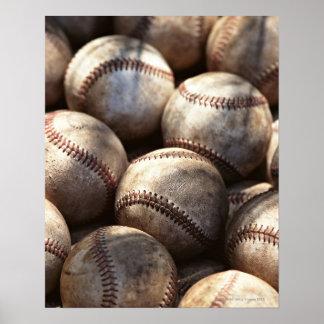 Boule de base-ball poster
