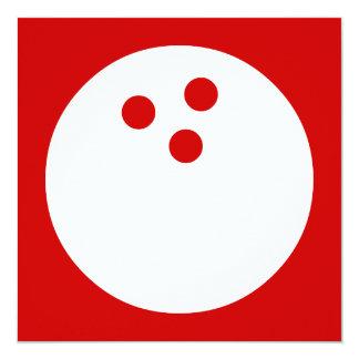 boule de bowling : couleur personnalisable carton d'invitation  13,33 cm
