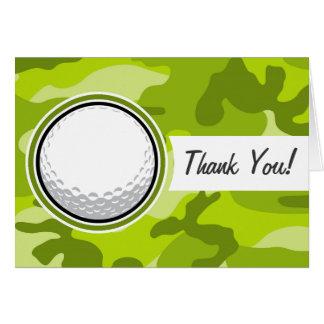 Boule de golf camo vert clair camouflage carte de vœux