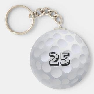 Boule de golf porte-clé rond