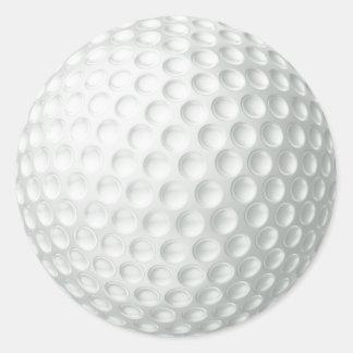 Boule de golf sticker rond