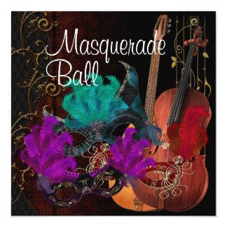 Boule de mascarade d'instruments de musique de carton d'invitation  13,33 cm