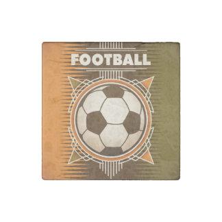 Boule de sport du football du football magnet en pierre