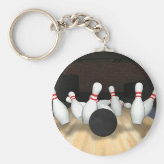 Boule et goupilles de bowling : modèle 3D : Porte-clé Rond