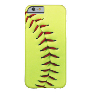 Boule jaune du base-ball coque iPhone 6 barely there