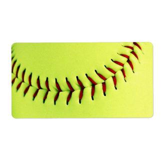 Boule jaune du base-ball étiquette d'expédition