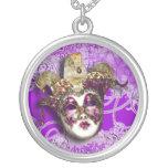 Boule masquée vénitienne de partie de mascarade bijouterie personnalisée