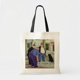 Boules Players Tote Bag