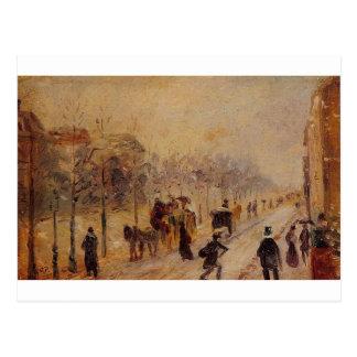 Boulevard des Batignolles by Camille Pissarro Postcard