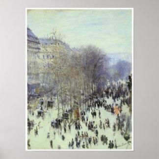 Boulevard des Capucines, 1873 Print