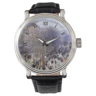 Boulevard des Capucines by Claude Monet, Fine Art Watch