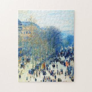 Boulevard des Capucines Claude Monet fine art Jigsaw Puzzle