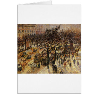 Boulevard des Italiens Afternoon by Camille Pissar Card