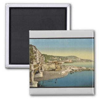 Boulevard du midi, Nice, Riviera vintage Photochro Magnet