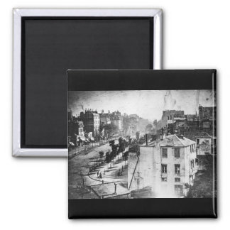 Boulevard du Temple, by Daguerre, historic photo Magnet