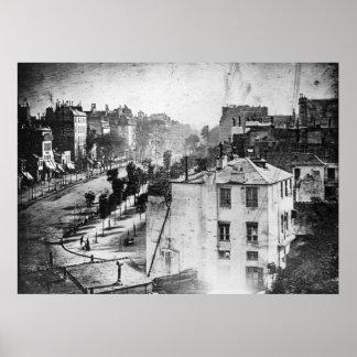 Boulevard du Temple, by Daguerre, historic photo Poster