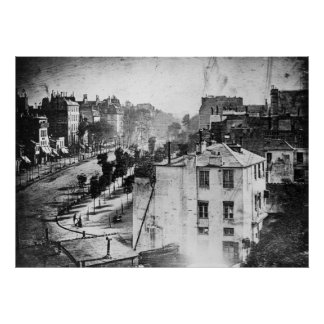 Boulevard du Temple First Photograph Living Person Poster