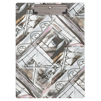 Boulevard-Hand Painted Abstract Brushstrokes Clipboard