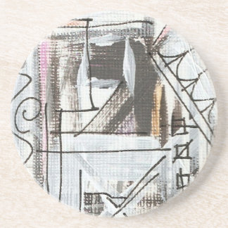 Boulevard-Hand Painted Abstract Brushstrokes Coaster