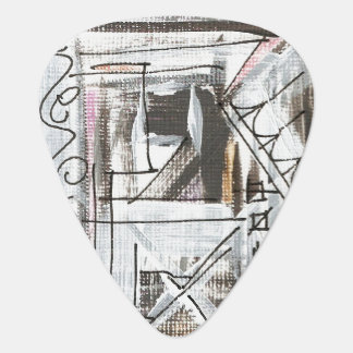 Boulevard-Hand Painted Abstract Brushstrokes Guitar Pick