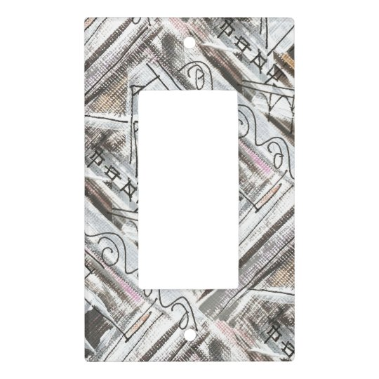Boulevard-Hand Painted Abstract Brushstrokes Light Switch Cover