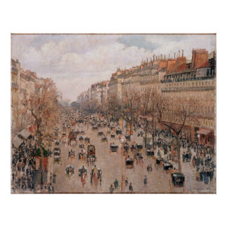 Boulevard Monmartre in Paris by Camille Pissarro Poster