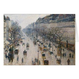 Boulevard Montmartre - Paris - Camille Pissarro Card