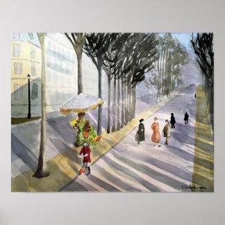 Boulevard Paris France- Poster
