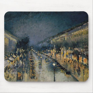 Boulevarde Montmartre at Night  ~ Camille Pissarro Mouse Pad