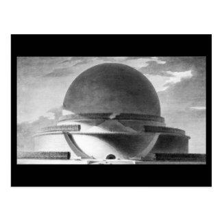 Boullée, Memorial Newton at Night Postcard