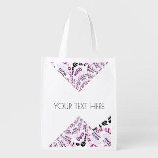 Boulon de foudre chic de série victorieuse de geek sacs d'épicerie