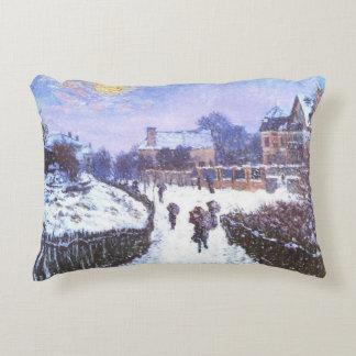 Boulvard Saint Denis by Claude Monet Decorative Pillow
