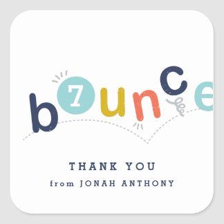 Bounce birthday party thank you sticker