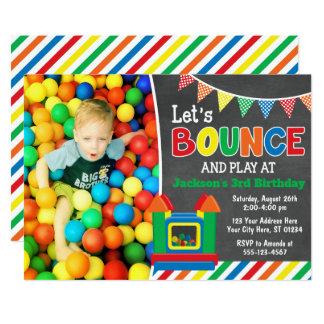 Bounce House Birthday Invitation with Photo