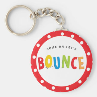 Bounce House Birthday Party Basic Round Button Keychain