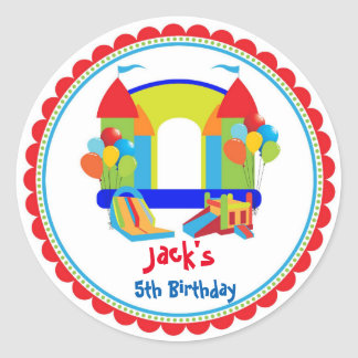 Bounce House Birthday Stickers