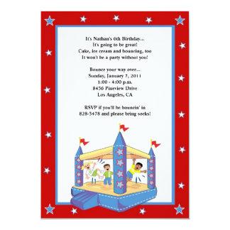 Bounce House Invitations: Stars Card