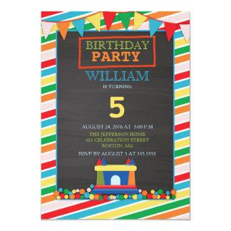 Bounce house Kids Birthday Party Invitation