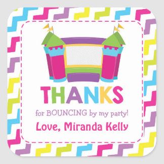 Bounce House Stickers / Bounce House Favor Tags