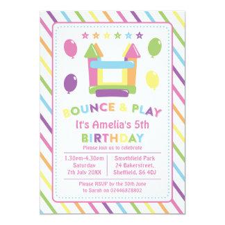Bounce house themed birthday party invitation