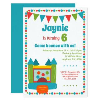 Bounce Invitation Girls Boys Jump Birthday Party