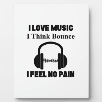 Bounce music plaque