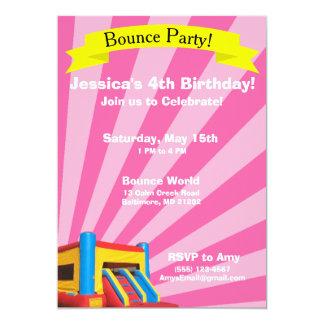 Bounce Party Birthday Invitation