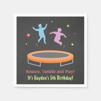 Bounce Trampoline Kids Birthday Party Napkins Paper Napkins