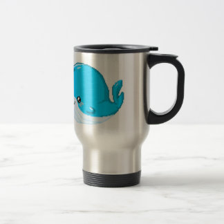 Bouncey the Whale 15 Oz Stainless Steel Travel Mug